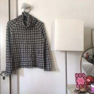 Rare houndstooth Madewell sweater XS turtleneck
